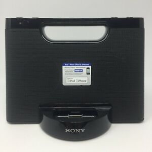 Sony Model RDP-M5IP Personal Audio Speaker Dock Black for 30 Pin iPod / iPhone