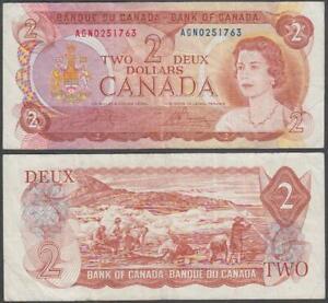 Canada - Elizabeth II, 2 Dollars, 1974, VF, P-86(a)