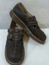 DR. MARTENS Brown Leather Double Buckle Mary Jane Style Shoes US Size 8