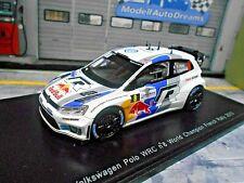 VW Volkswagen Polo WRC Rallye WM 2013 France WC Ogier #8 Bull Spark 1:43