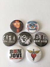 7 Bon Jovi button badges Slippery When Wet Crossroads Have a Nice Day Jon