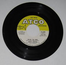 "Bee Gees - USA 45 - ""Run To Me"" / ""Road To Alaska"" - VG+"