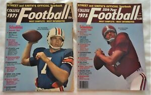 Lot Of TWO: 1971 & 1975 Street & Smith's Football Yearbook W/College Previews VG