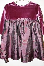 George 24 Month Purple Polyester Dress Flower Accent Empire Style Waist