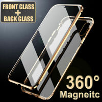 360° Magnetic Adsorption Front+Back Temper Glass Case Cover for iPhone XS Max XR