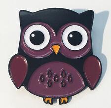 Purple Enamel Lapel Pin Cute Purple Woodland Hoot Owl
