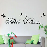 Sweet Dream Quote Removable Wall Art Sticker Living Room Decal Mural Decor MP