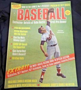 Vintage Sports Magazine Baseball 1971 MLB Babe Ruth Robinson Records Stats Mets