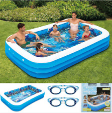 """Members Mark 3D Inflatable Family Swimming Pool & Goggles 120"""" X 72"""" X 22"""" 10ft"""