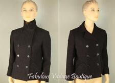 DKNY Metallic Shimmer Wool Blend DoubleBreasted Jacket Cropped Dress Coat 6