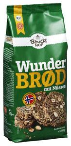 Bio Wunderbrod Backmischung mit Nüssen, glutenfrei, 600 g NEU & OVP von
