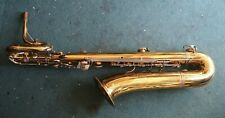Vintage Pierret stencil low Bb French Baritone saxophone