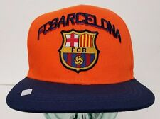 d6a27b092cd FC Barcelona Orange Hat Cap New With Tags Official Product Flat Brim  Snapback