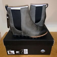 a99bc81d760a Women s Sorel Lea Wedge Boot New Waterproof Grey Black Tan Ankle Joan  Chelsea