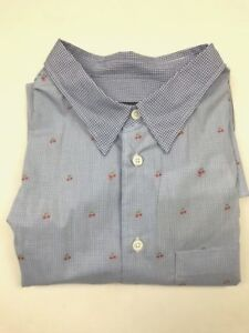 Paul Smith PS - Blue Mini Check Shirt - XL - *NEW WITH TAGS* RRP £135
