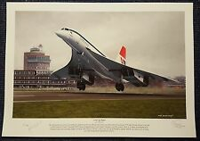 Concorde A New Age Begins 1976 John Lidiard Signed Limited Edition Print