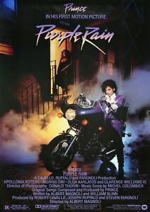 Purple Rain Movie Poster Film Photo Print  Picture Prince