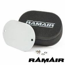 Ramair Carb Pernos en los filtros de aire Con en Blanco Placa Base - 100mm altura interior