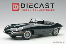 AUTOART 73604 JAGUAR E-TYPE ROADSTER SER. I 3.8 GREEN W/METAL WIRE-SPOKE WHEELS
