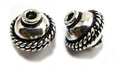 14 PCS 10MM SOLID COPPER BALI BEAD STERLING SILVER PLATED 18K GOLD PLATED B139