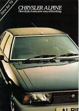 CHRYSLER ALPINE NUOVO'79 ORIGINALE UK SALES BROCHURE PUB. NO. C9570/1/150