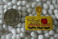 American Heart Association Rubber Ducky Derby Foldover Tab Pinback Button #29001