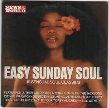 EASY SUNDAY SOUL: PROMO CD: AL GREEN, JACKSONS, BILL WITHERS, LUTHER VANDROSS ++
