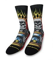 Merge 4 x Jimbo Phillips No Time to Waste Classic Crew Sock JP1315 Red *New*