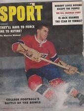 1959 Sport Magazine Maurice Richard Cover Floyd Patterson Jack Dempsey Kubek