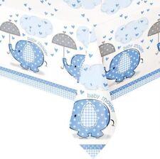 Unique Party Baby Blue Plastic Tablecloth 9ft X 4.5ft