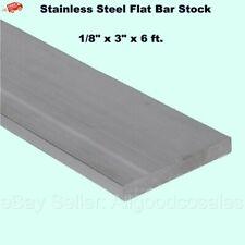 Stainless Steel Flat Bar Stock 18 X 3 X 6 Ft Rectangular 304 Mill Finish