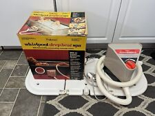 Vintage Whirlpool Pollenex Deep Heat Bath Spa Portable Bubble Massage 1989