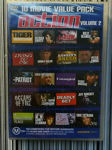 10 Movie Value Pack Action Volume 2 DVD MA15+ BRAND NEW IN PLASTIC