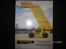 PETTIBONE EXTENDO T6036T6044T8036T8044 Fork Lift Loader Tractor Brochure