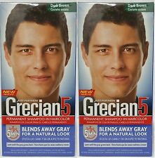 Just For Men Grecian 5, Hair Shampoo In Hair Color, Dark Brown (2 Pack)