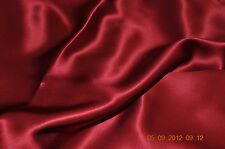 Pure Silk Crepe Back Satin 19 Momme 114 Cm Lipstick by Half Meter