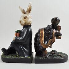 Tartaruga e Lepre REGGILIBRI Bronzo Scultura Statua figura in piedi NUOVO 01730