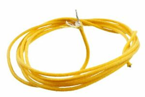 Guitar Wire Yellow 22 Gauge Vintage Style Cloth Covered Per Metre