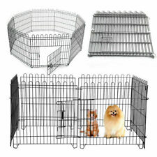 8 Panel Pet Dog Pen Puppy Rabbit Foldable Playpen Indoor Outdoor Enclosure Cage