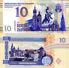 POLAND 10 Zlotych Fun-Fantasy Note 2017 Issue Krakow #1 (in a series of notes)