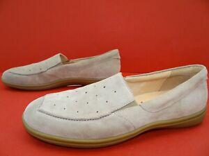 Ganter Gill G Slipper Halbschuhe Mokassin Ballerina Damen Schuhe Leder Taupe