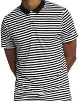 NWT Nike Men's Dri-Fit Victory Solid Polo Golf Shirt black white striped small