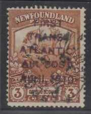 CANADA NEWFOUNDLAND 1819 AIRPOST Sc C1 CRUDE VIOLET FORGED OVPT USED (CV$15,000)