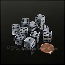 NEW 10 Olympic Silver 12mm Dice Set D&D RPG Gaming Pearlized 1/2 inch D6 Koplow