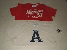 2PC Aeropostale Grapic T-Shirt For Men  Beige/Red Sz XXL - NWT $59