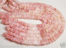 "8"" half strand PINK PERUVIAN OPAL square heishi cube gem stone beads 4.5mm - 5mm"