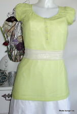 NOA NOA Shirt Indeed Jersey alarm S 36 Baumwolle cotton grün green bluse blouse