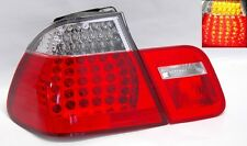 Red Clear LED Tail Lights Fits BMW E46 3 Series 4Dr 99-01