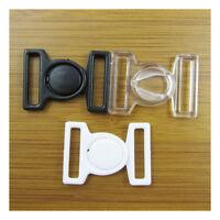 BIKINI HOOK & SNAP PLASTIC CLIPS CLASPS BRA FASTENER 16mm STRAP HABERDASHERY