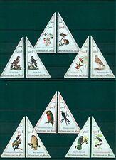 Birds Parrots Owls Fauna Oiseaux Mali 12 MNH stamps set
